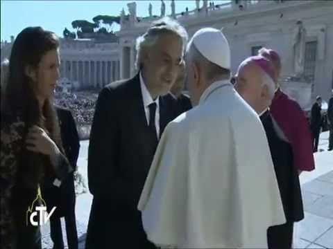 Andrea Bocelli e Papa Francesco  2014