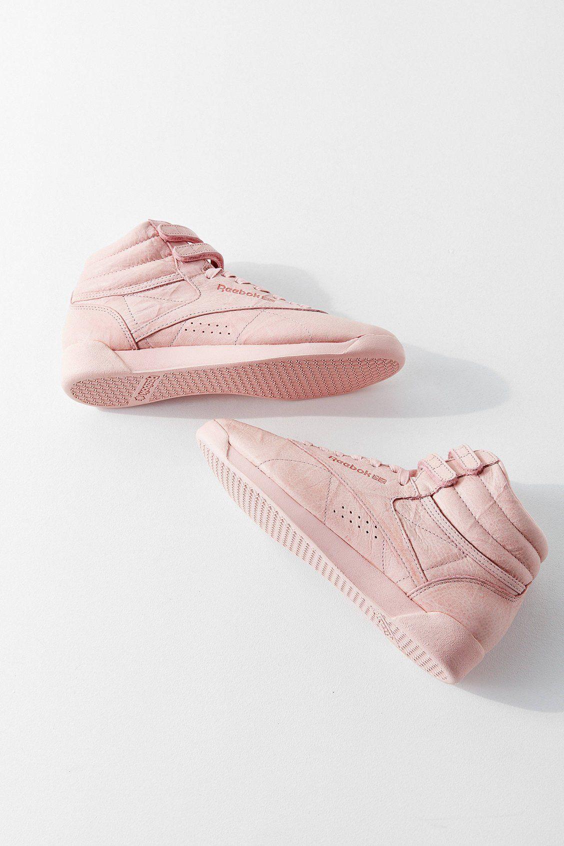 save off c6788 889ec Reebok Freestyle Hi FBT Sneaker   Urban Outfitters Reebok Freestyle, Sock  Shoes, Women s Shoes