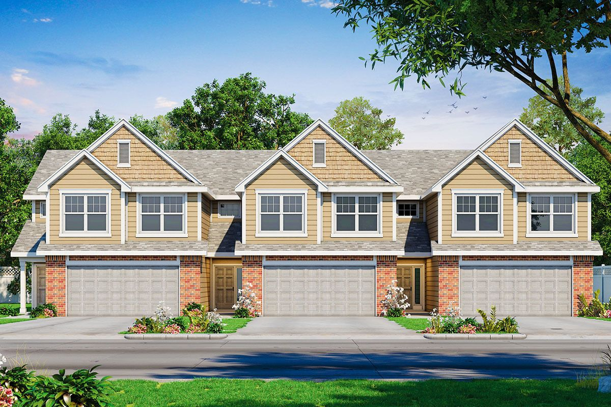Plan 42585DB 3Unit MultiFamily Home Plan Family house