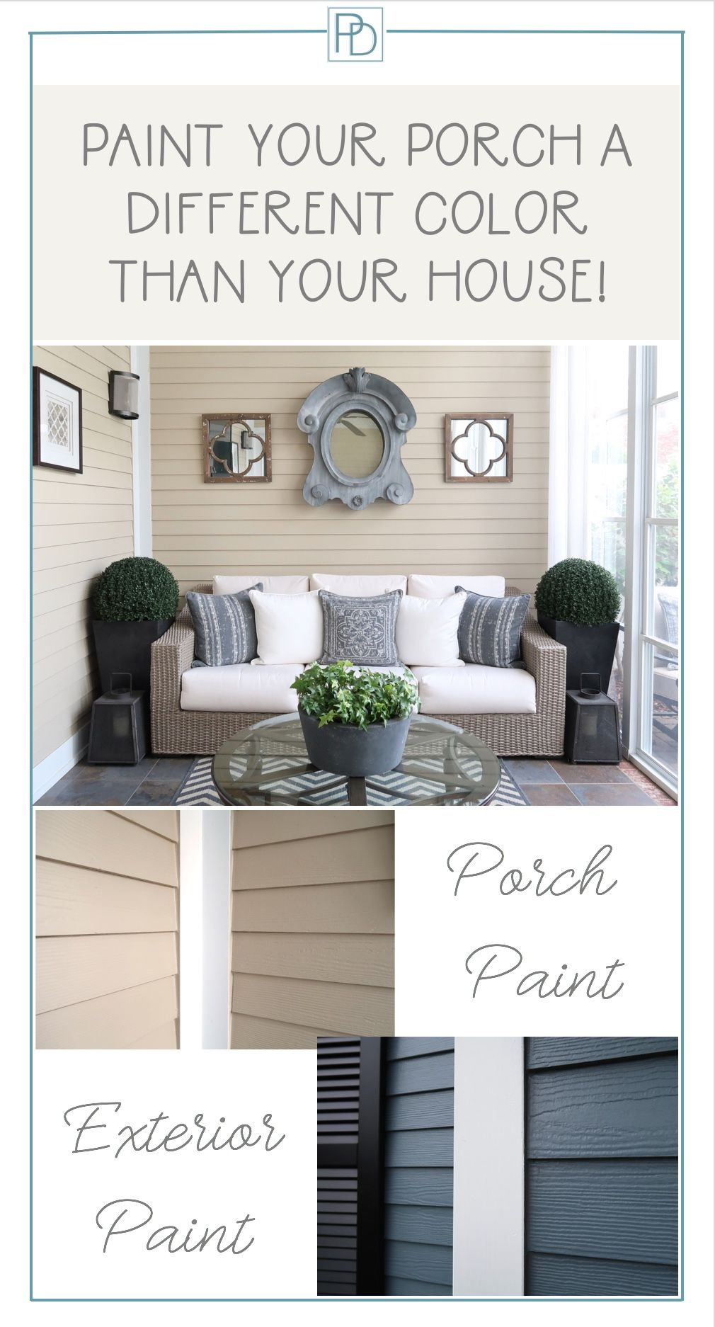 Paint Your Porch A Different Color Than Your House U2013 Really!