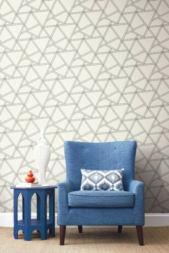 Peel And Stick Removable Self Adhesive Geometric Wallpaper 20 5 W X 18 L Roll 631748627886 Ebay Peel And Stick Wallpaper Wallpaper Roll Textured Walls