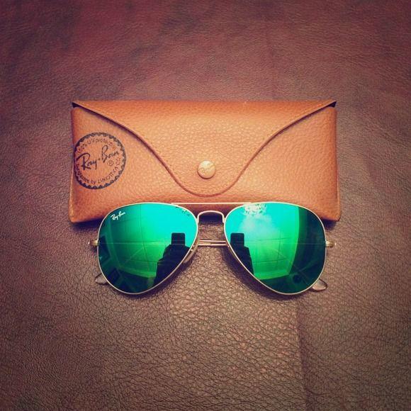 ray ban accessories green mirror reflector sunglasses men rh pinterest com
