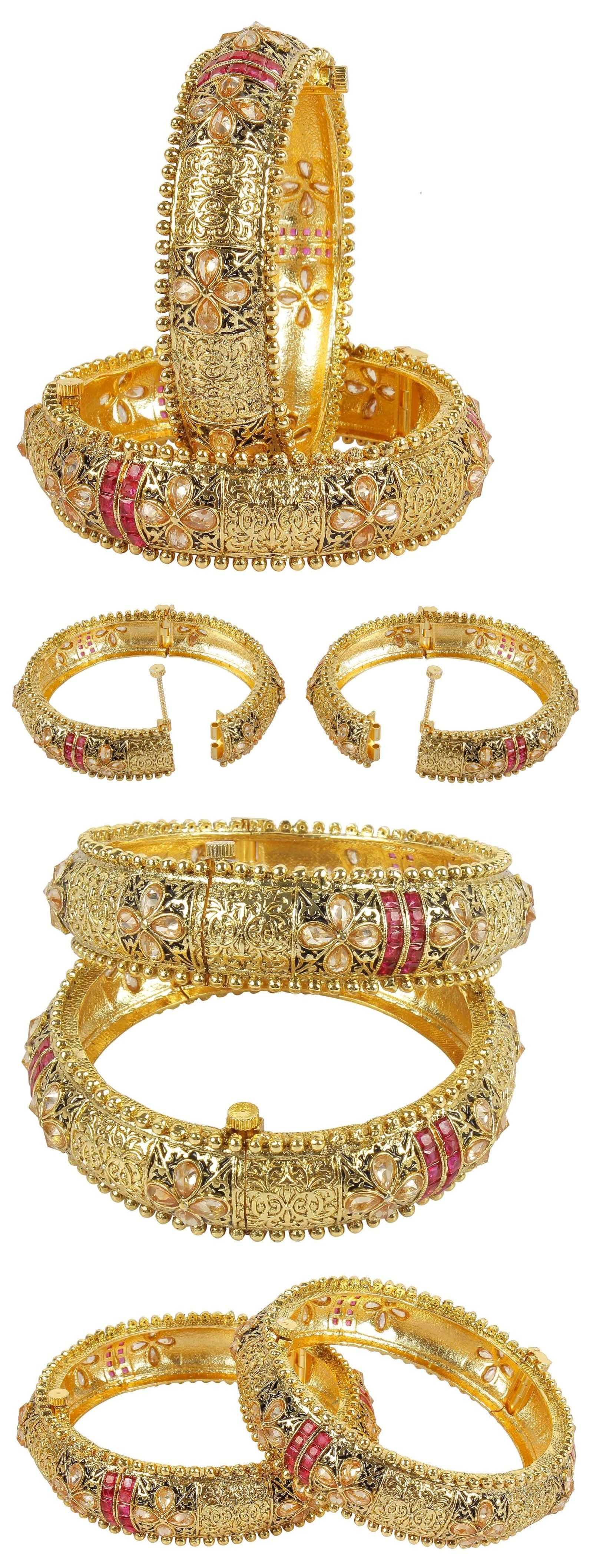 Indian bangles bollywood beautiful bracelets wedding gold plated