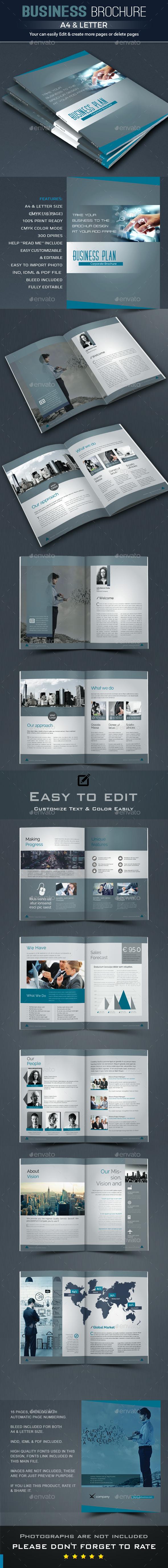 Business Plan Brochure Template InDesign INDD | DESIGN INSPIRATION ...
