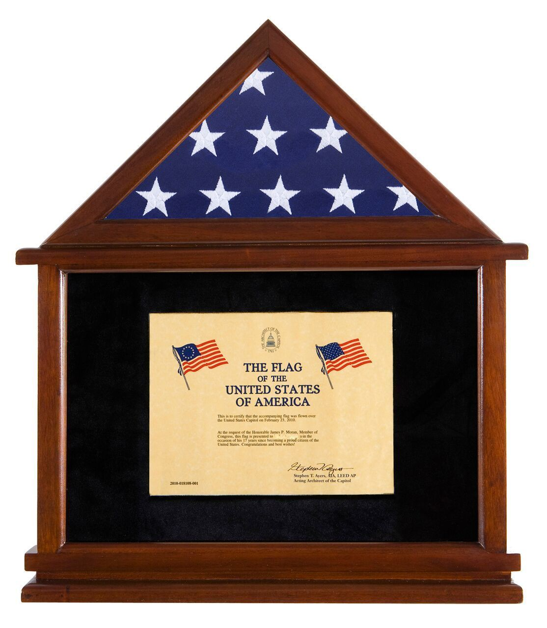 Flag Display Case With Certificate Holder   Military Medal Cases ...