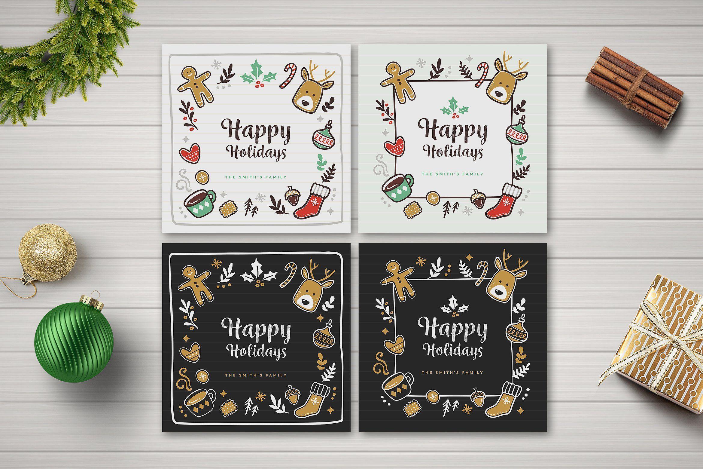 Holiday Social Media Posts Card Holiday Social Media Posts Editable Cards Graphic Design Freebies