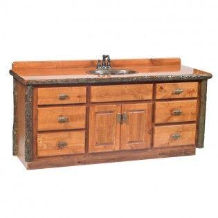 Hickory Vanity-6 Foot | Bathroom vanity base, Single ...