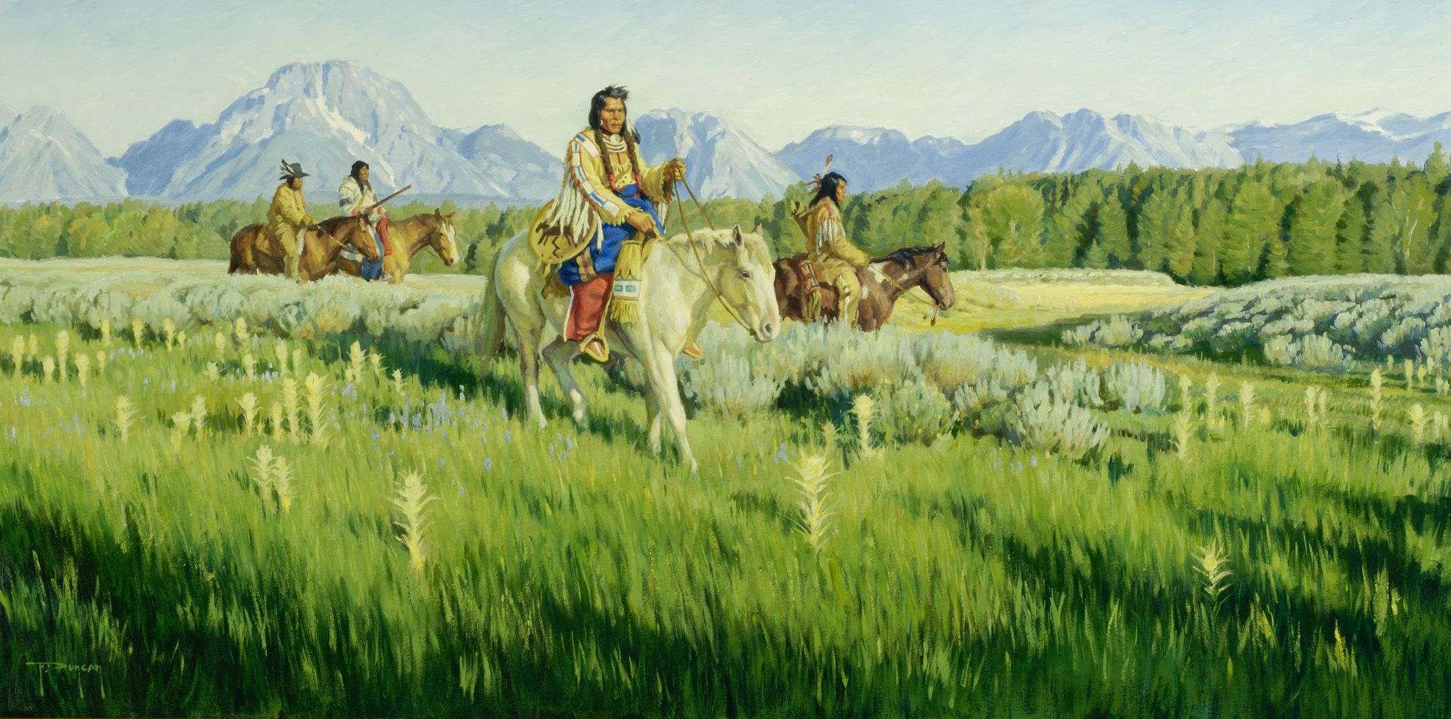 Duncan robert spring in crow country 1336 jackson hole