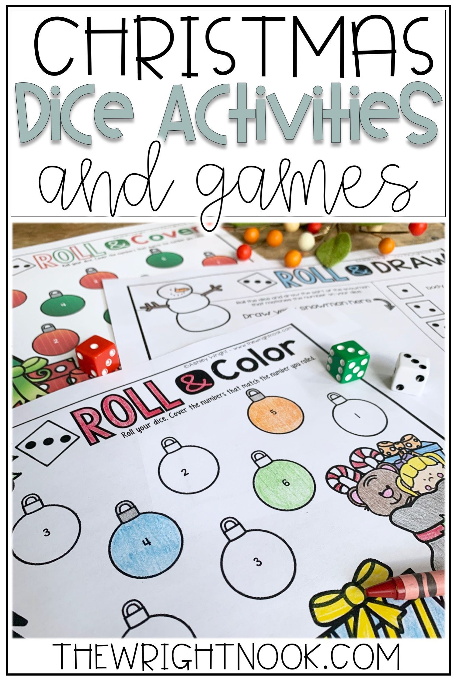 December Math Dice Games