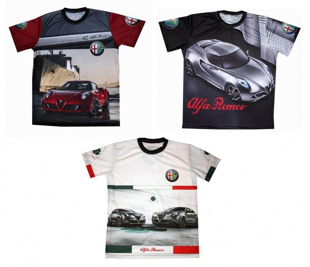 Alfa Romeo T-shirt Mito 159 4C Giulia Quadrifoglio Q4