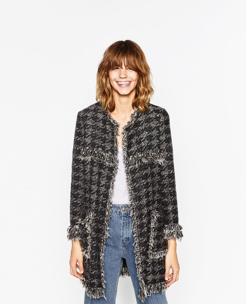 HOUNDSTOOTH JACKET-View All-OUTERWEAR-WOMAN-SALE | ZARA United ...