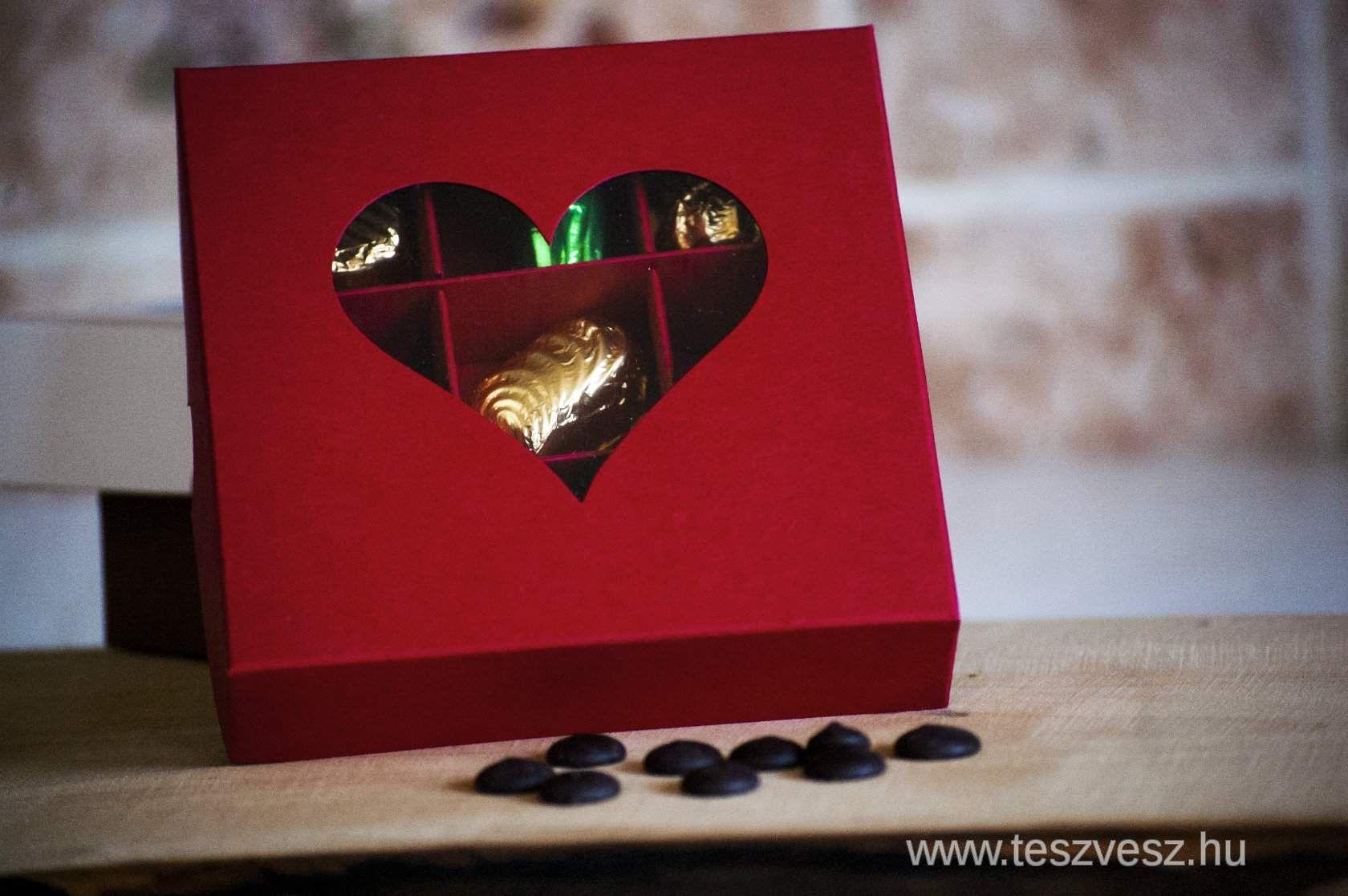 Valentin napi kézműves bonbon