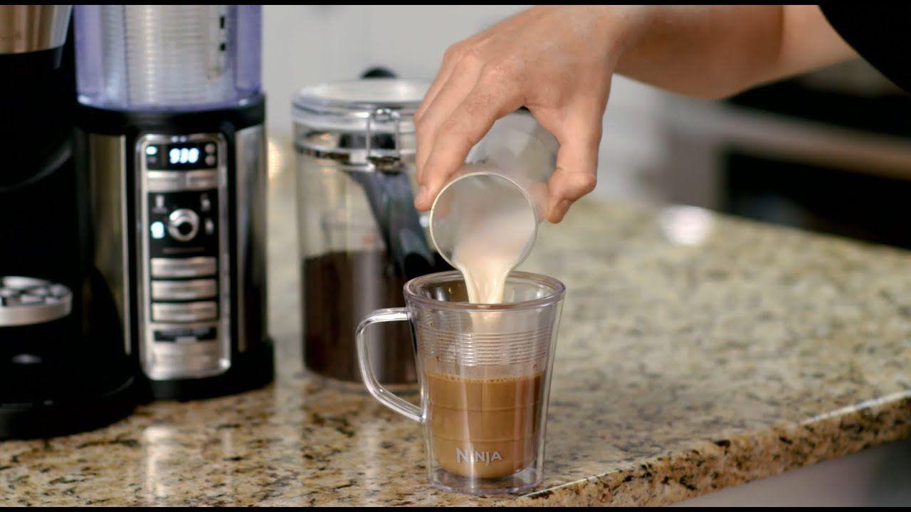 Making a caramel macchiato with the ninja coffee bar