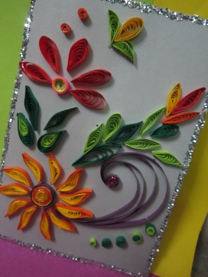 Handmade Eid Greeting Card 13 Quilling Pinterest