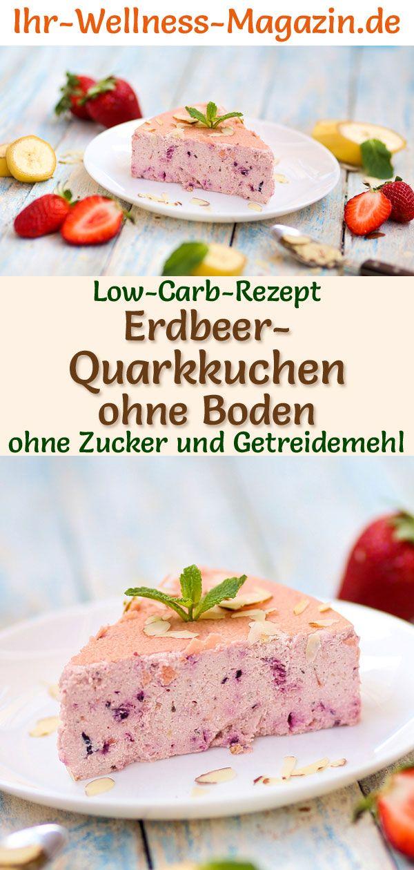 Photo of Low Carb Erdbeer-Quarkkuchen ohne Boden – Käsekuchen-Rezept ohne Zucker
