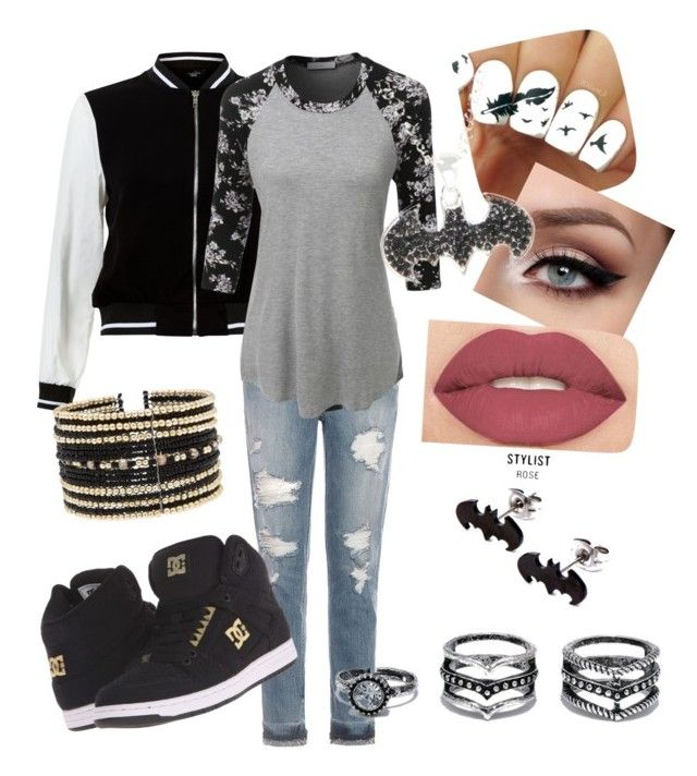 """""""Untitled #7"""" by cynthia-guitard ❤ liked on Polyvore featuring Joe's Jeans, New Look, LE3NO, DC Shoes, Smashbox, Eloquii and LULUS"""