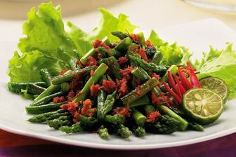 Salad Kacang Panjang Asparagus Makanan Dan Minuman Resep Vegetarian Resep Salad