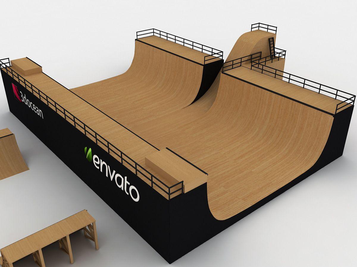 Mega Halfpipe Skate Park Bundle Skate Park Old School Skateboards Skate Backyard mini mega ramp