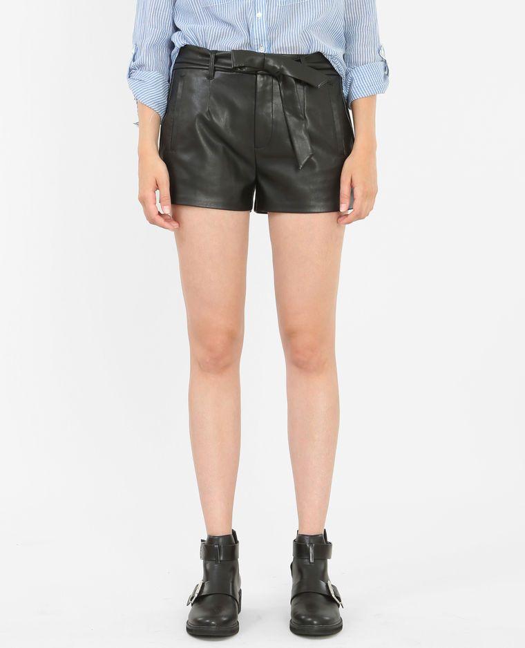 Short simili cuir noir | Short simili cuir,