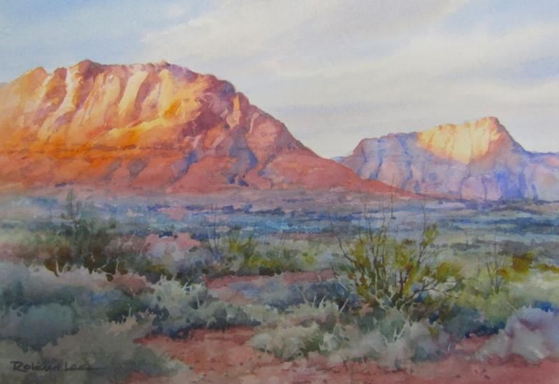 Utah Landscapes In Watercolor Watercolor Painting Mountain