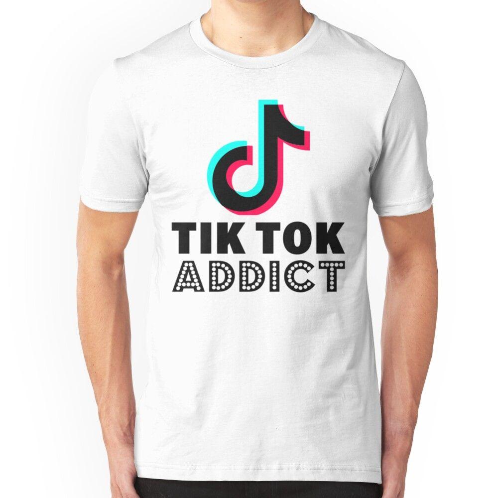 Tik Tok Addict Slim Fit T Shirt Famous Shirts Boys Graphic Tee T Shirt
