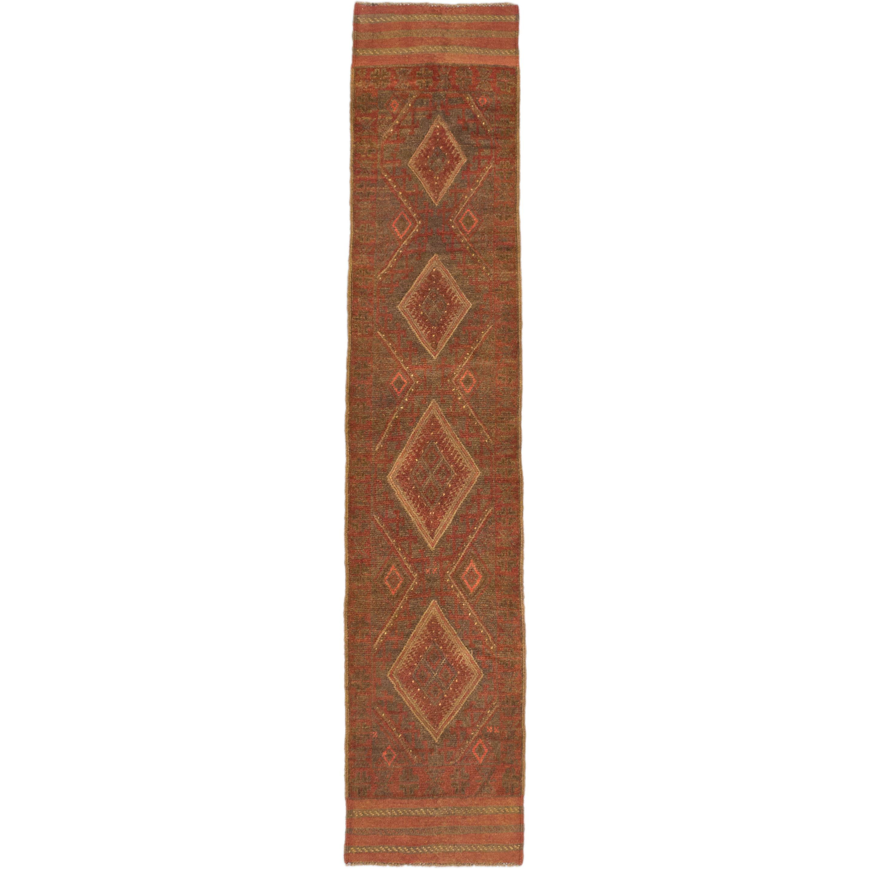 Ecarpetgallery Hand-knotted Tajik Caucasian Orange Runner Rug