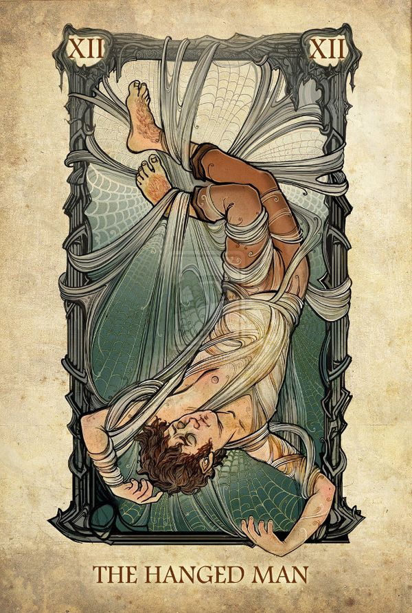 THE HANGED MAN | The Lord of the Rings Tarot Deck