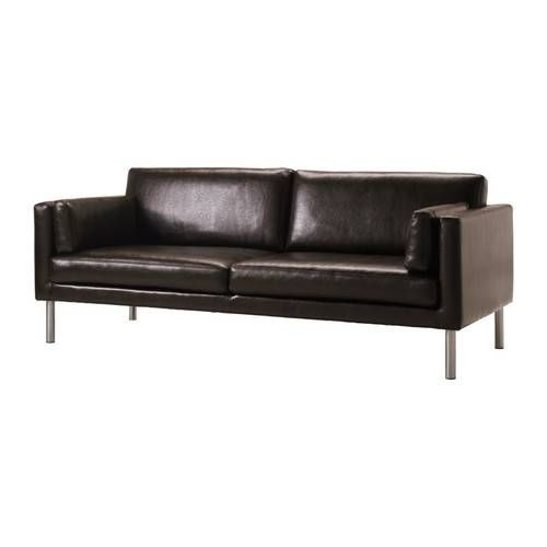 Ikea S Brown Leather Sofa For 399 Middle Class Modern 11 Super Affordable Mid Century Modern Leather Sofas Leather Sofa Bed Ikea Leather Sofa Ikea Sofa