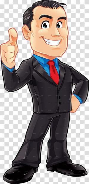 Man Raising Thumbs Up Cartoon Businessperson Male Businessman Transparent Background Png Clipart Man Illustration Cartoon Man Boy Illustration