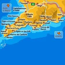 costa amalfitana mapa Costa amalfitana mapa | Mapas | Pinterest costa amalfitana mapa