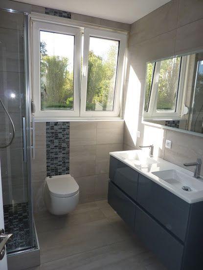 Rénovation d\' une salle de bain avec un sanibroyeur suspendu et un ...