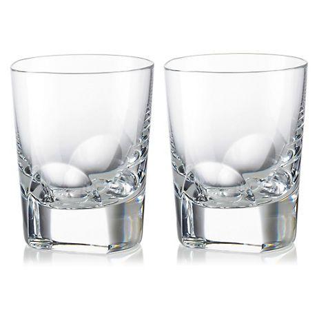Charming $90   Gumpu0027s   Rogaska Manhattan Double Old Fashioned Glasses