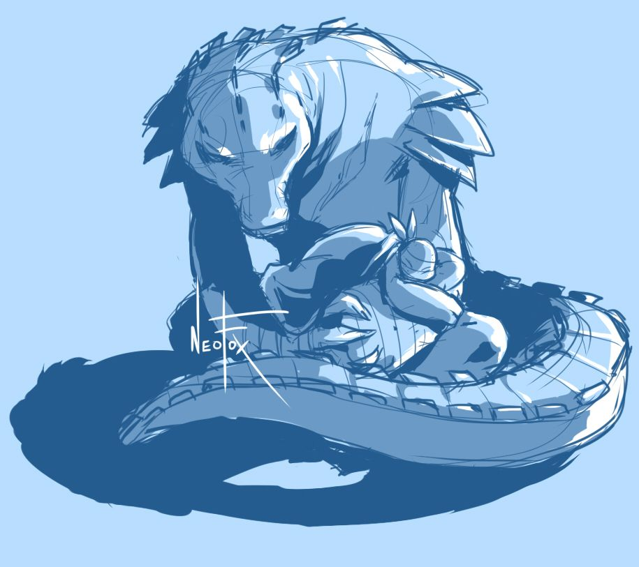 I love Leatherhead and Mikey so much! They are sooooo cute together!