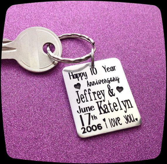 Anniversary Gift 10 Year Gift For Husband Wedding Date