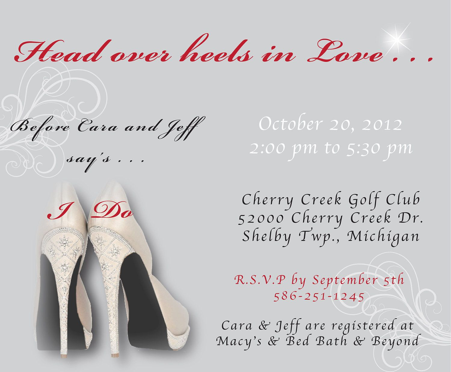 Image result for bridal shower shoe theme invitations | Bridal ...
