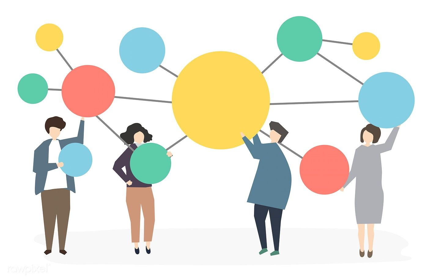 Download premium vector of People connected and networking