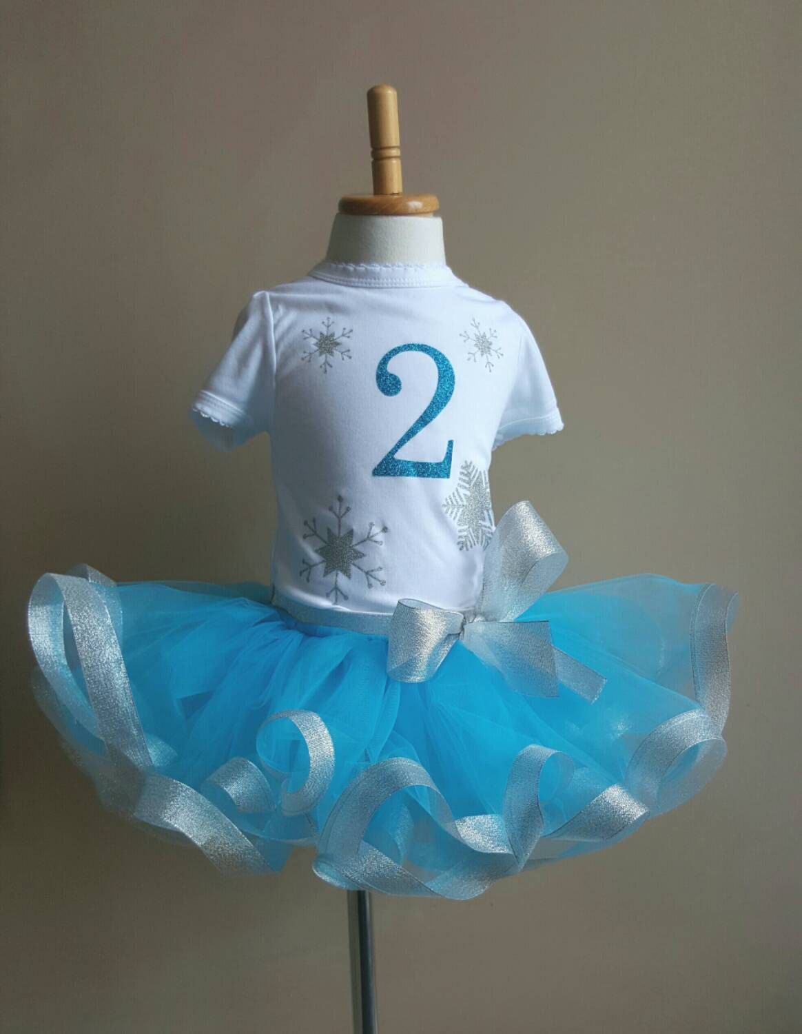 First 1st Second Birthday outfit winter wonderland blue icy tulle ...