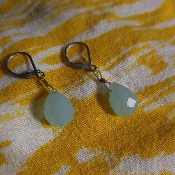 Earrings Aqua blue dangling drop earrings Jewelry Earrings