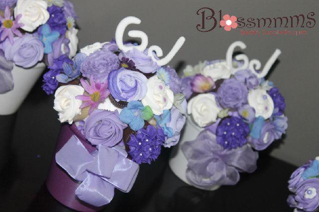 Cupcake Bouquet Centre Pieces for a wedding Cupcake Bouquet http://www.blossmmms.com/