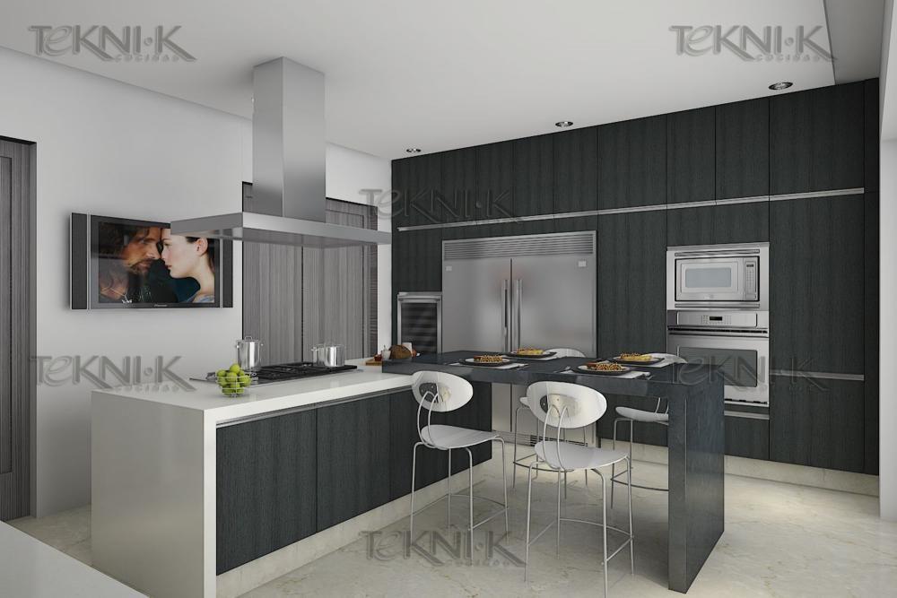La cocina presenta una combinaci n sobria entre colores y for De que color con gris en una cocina