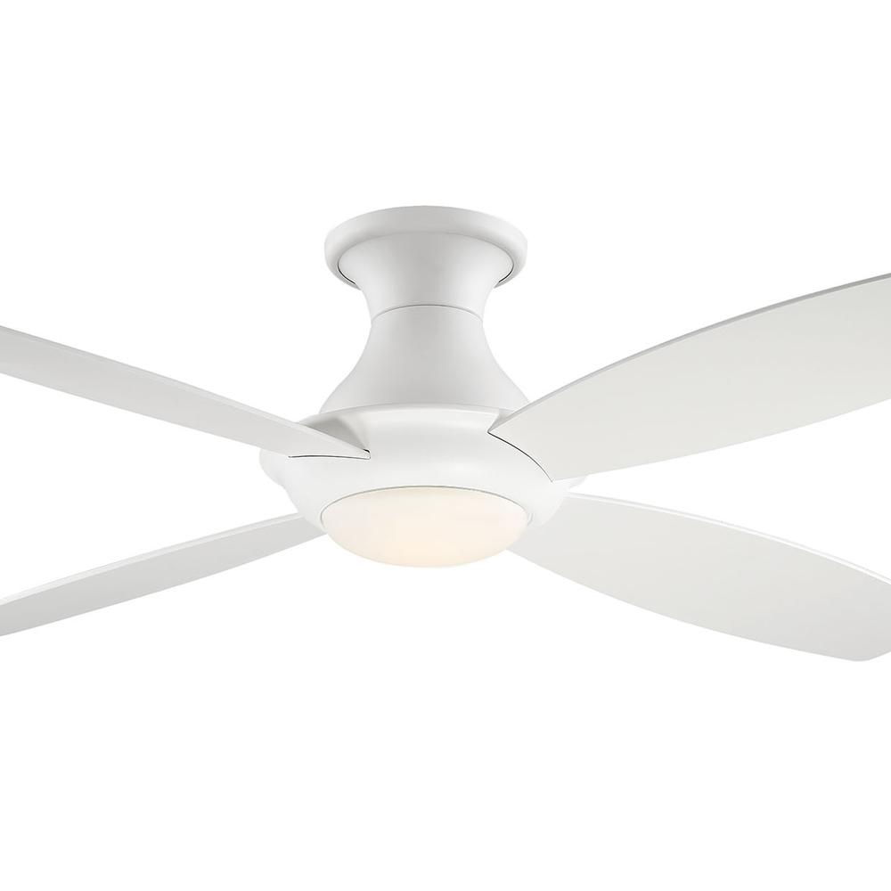 Fifth And Main Lighting Bayview 52 In Led White Hugger Ceiling Fan Wl 2416wh With Images
