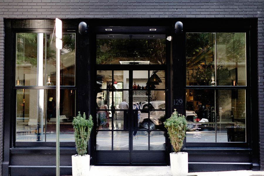 All Black Store Front With Images Shop Window Design Shop