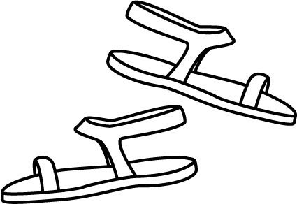 Sandals L Jpg Color Coloring Pages Drawing Templates