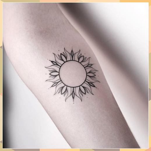 50 Adorable Sun Tattoos Ideas For Men And Women Adorable Ideas Men Sun Ta Adorable Half Butterfly Tattoo In 2020 Sun Tattoo Designs Sun Tattoos Sun Tattoo