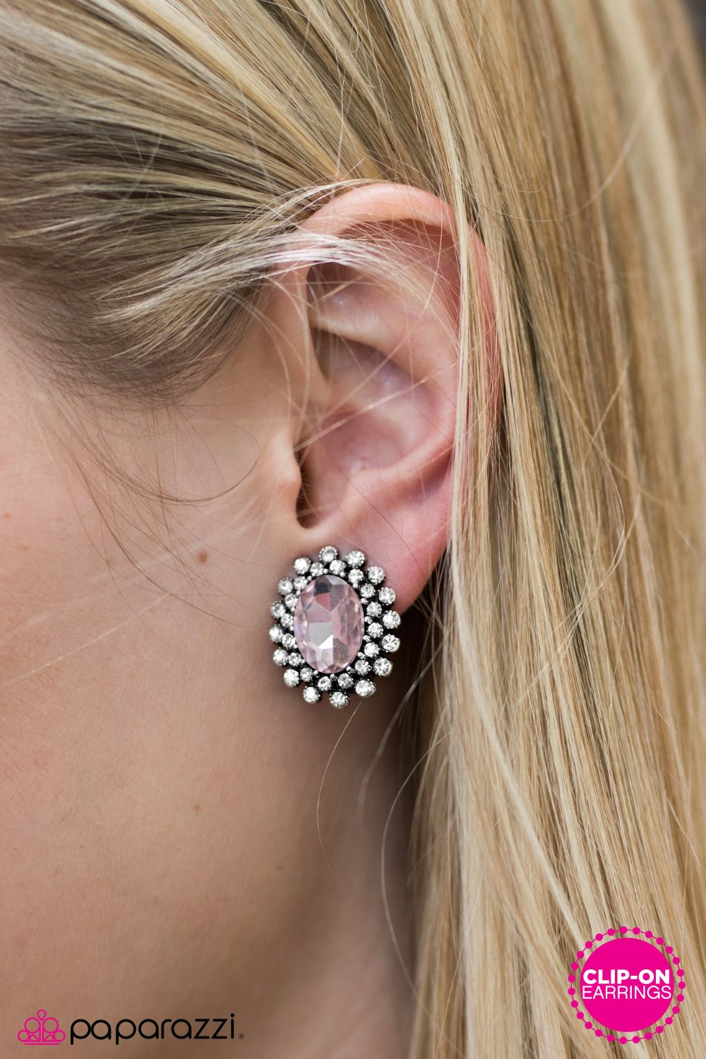 Starry Shine - Pink - Clip-On