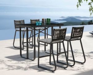 Great Folding Outdoor Bar Height Chairs