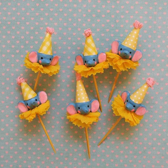Blue ElephantsCircus Theme Toppers by PartyPopPop on Etsy Happy