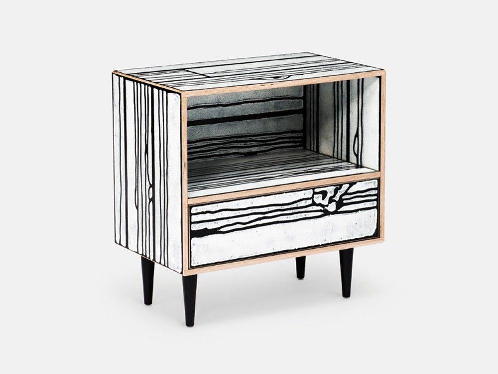 Wrongwoods Night Table In 2019 Modern Industrial Design