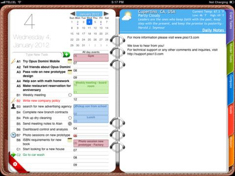 9 franklin covey app for ipad daily tasks master tasks task repeat