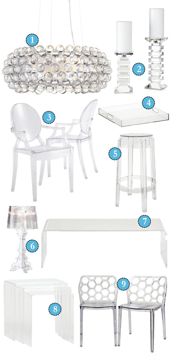 Clear furniture   Home office design, Trending decor ...